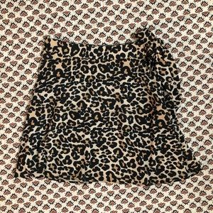 TOPSHOP- Leopard Cheetah Mini Skirt